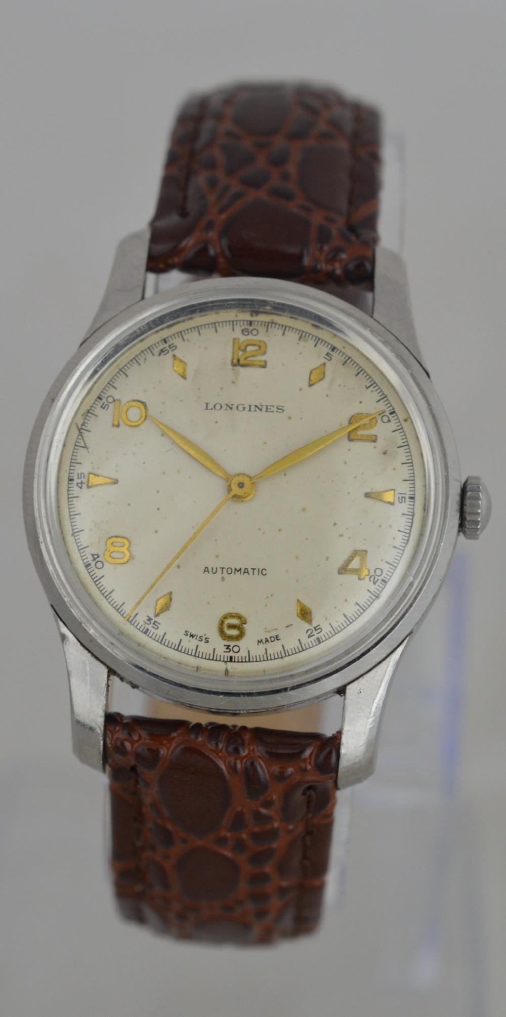 1952 longines automatic wristwatch