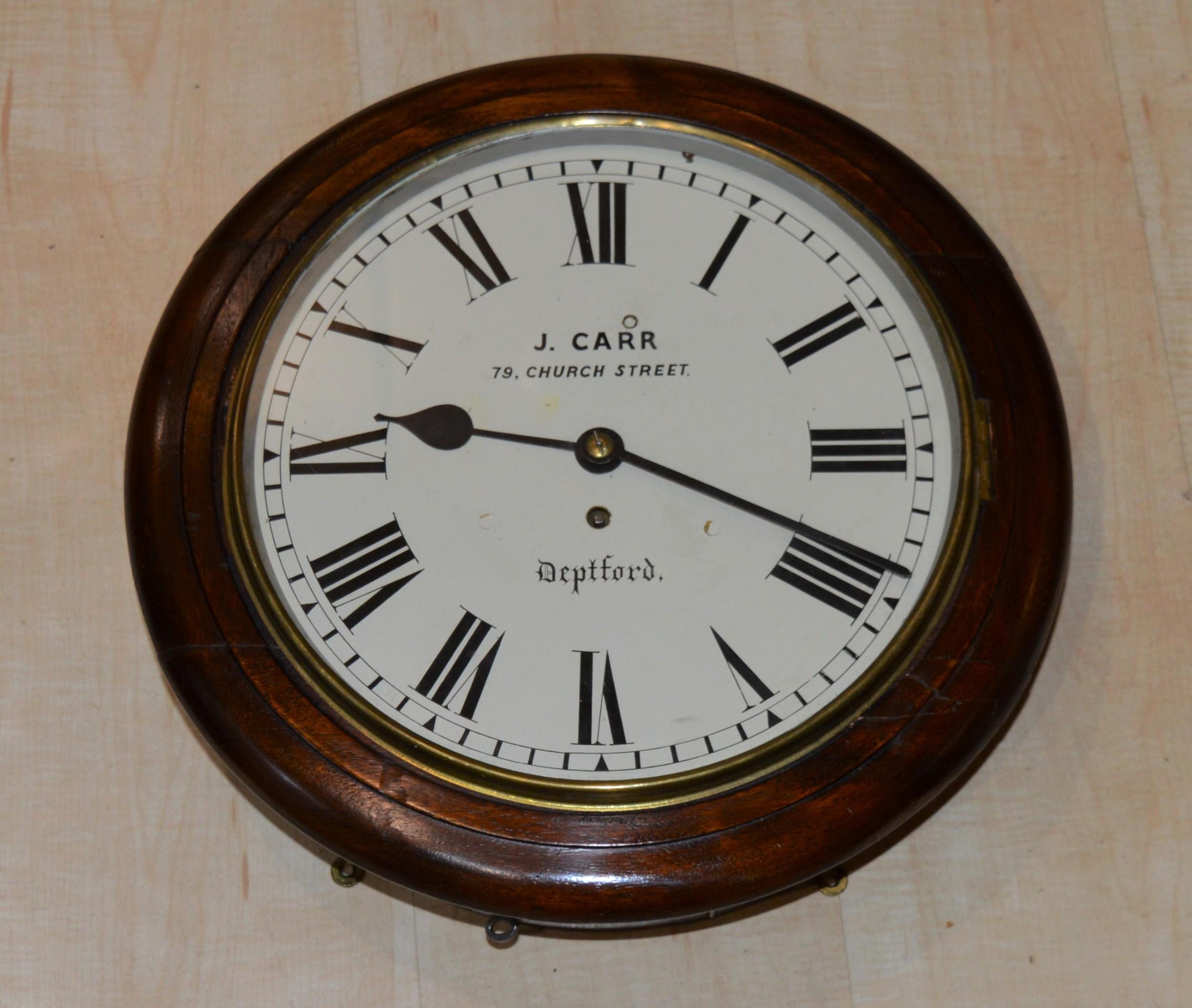john carr deptford fusee dial wall clock