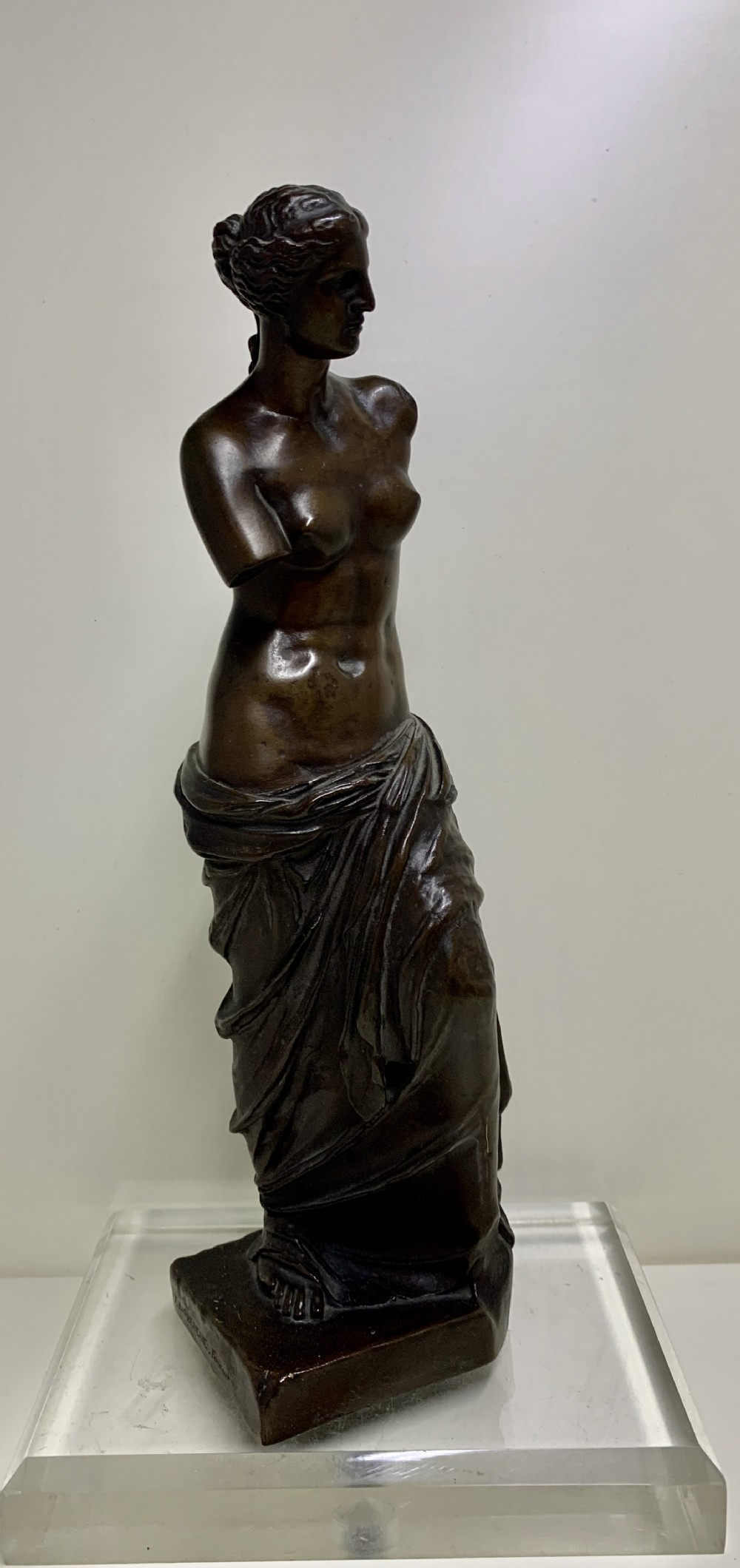 a french 19th century bronze figure of venus de milo by barbedienne