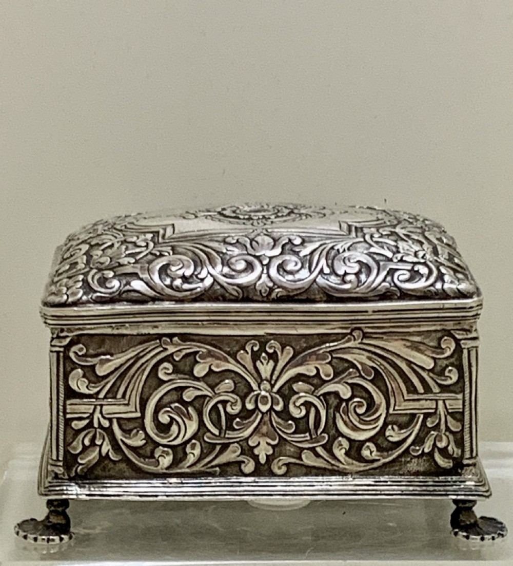 a superb 19th century colonial silver snuff box