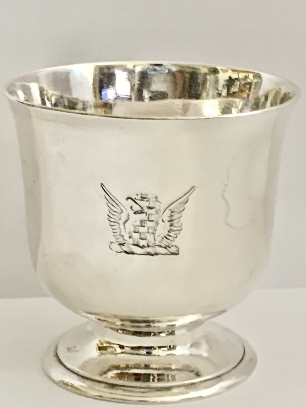 a rare george ii silver tot cup circa 1736