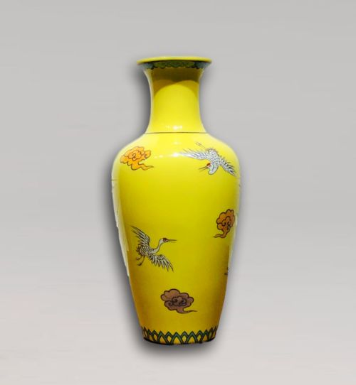 an unusual early twentieth century japanese cloisonne ando vase
