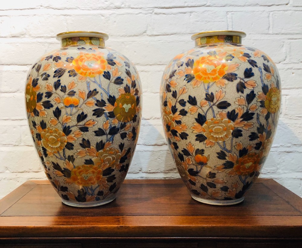 a fantastic pair of japanese meijiperiod imari vases