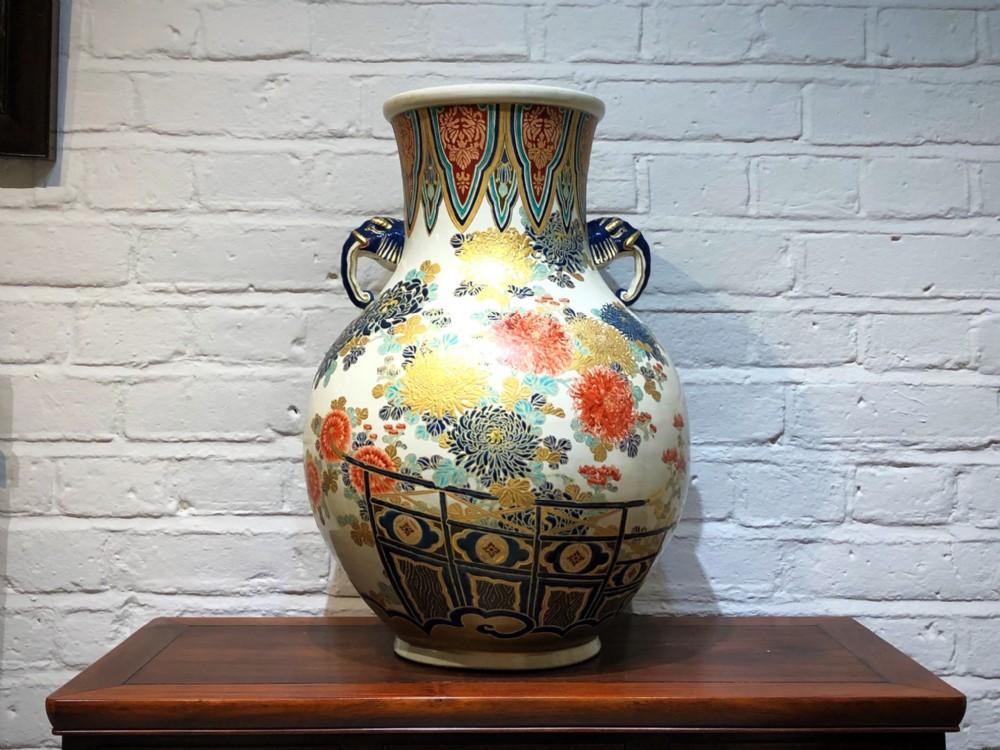 a large japanese imperial satsuma vase c1860