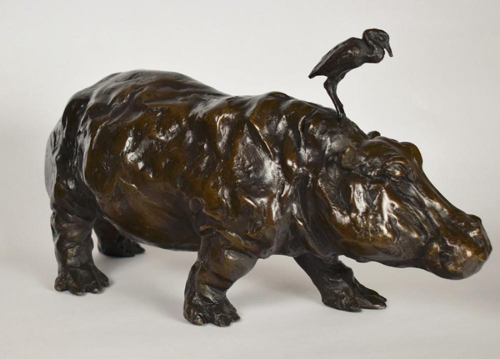 bronze hippo