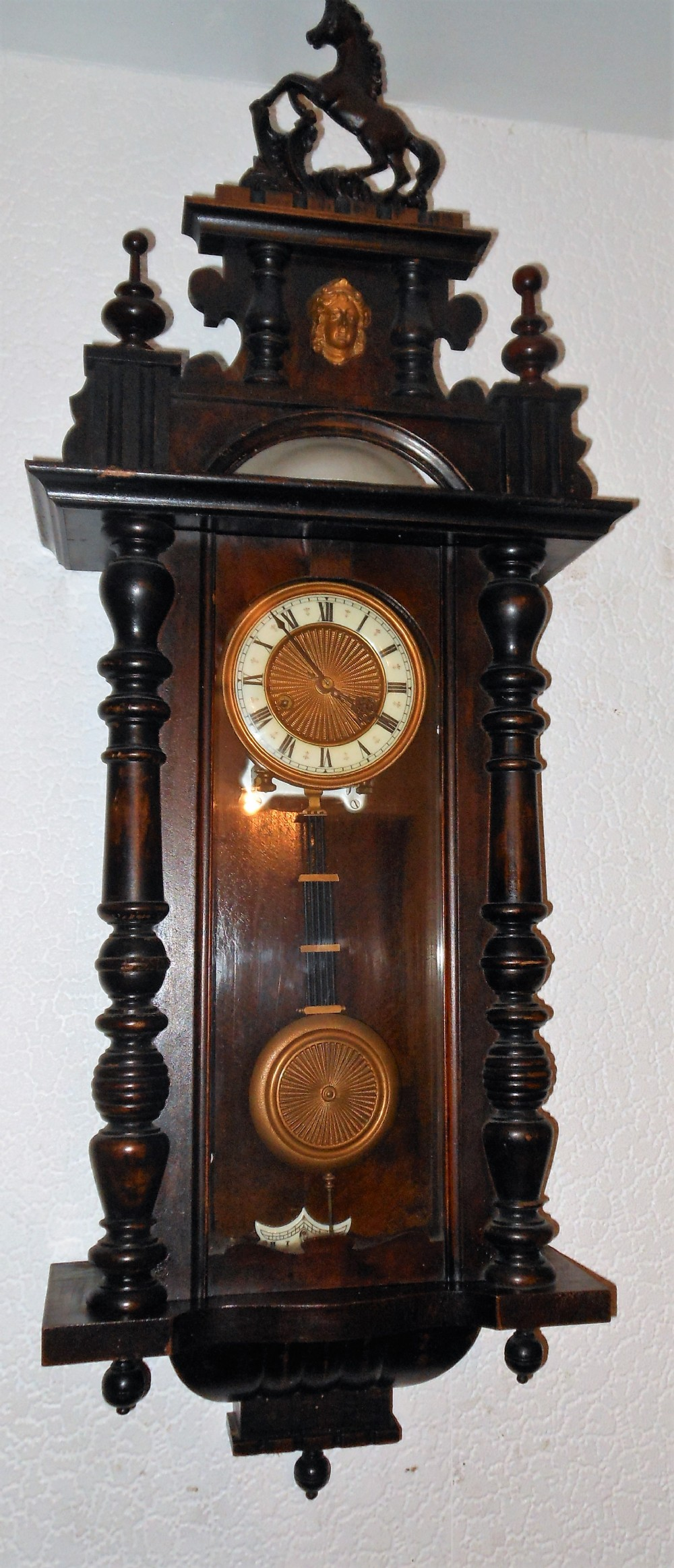 Intresting hac vienna wall clock with bell strike c1900s 510276 intresting hac vienna wall clock with bell strike c1900s amipublicfo Choice Image