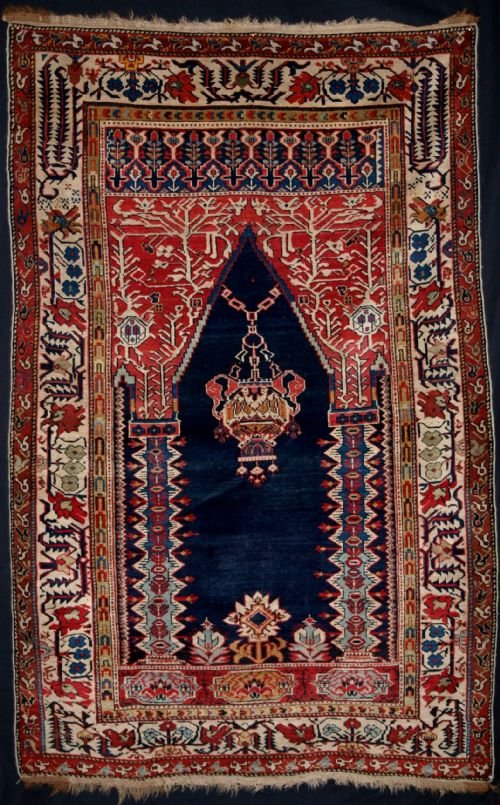 antique caucasian shirvan prayer rug rare design late 19th century