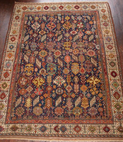 Antique Shekarlu Qashqai Rug Superb Drawing And Colour 4th