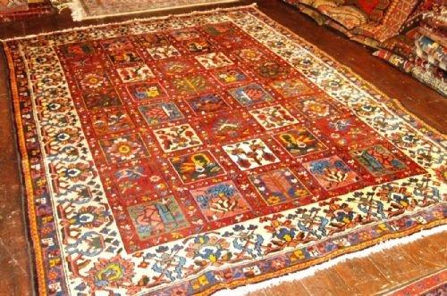 old persian bakhtiari carpet garden design hard wearing carpet circa 192030