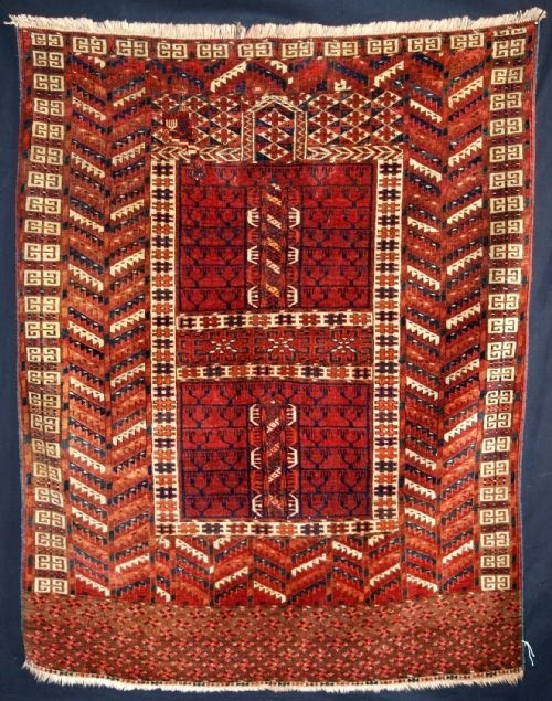antique tekke turkmen ensi great colour 4th quarter 19th century