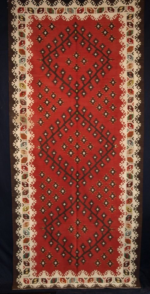 antique turkish sharkoy kilim classic design circa 1920