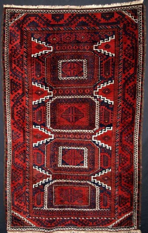 antique baluch rug good design excellent condition circa 1900