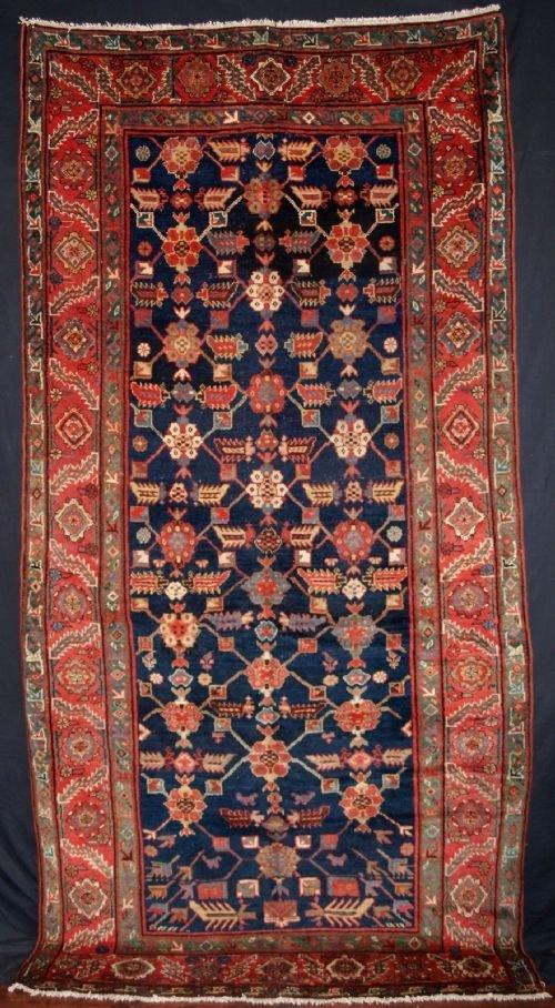 antique north west persian kurdish long rug beautiful circa 1900