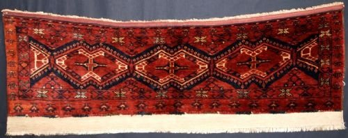 antique ersari beshir turkmen torba full pile circa 1900