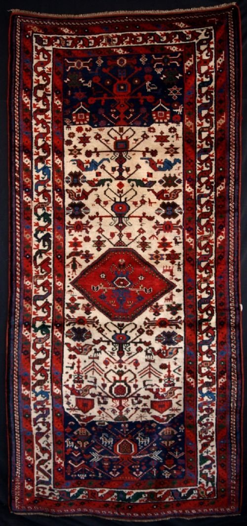 old afshar long rug tribal design circa 1920