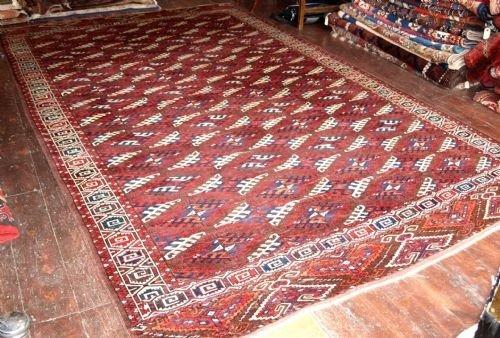 antique yomut turkmen main carpet superb circa 1880