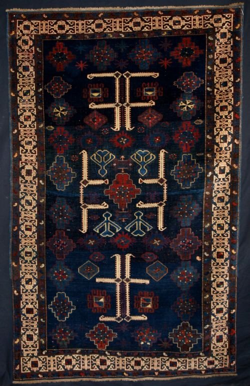 antique caucasian kuba rug with afshan design late 19th century