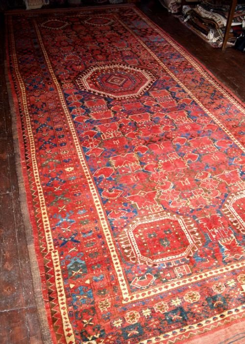 antique ersari beshir turkmen main carpet 2nd half 19th century