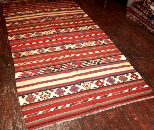 old caucasian shirvan kilim traditional design circa 1920