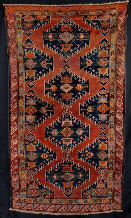 antique caucasian karabach rug great design late 19th century