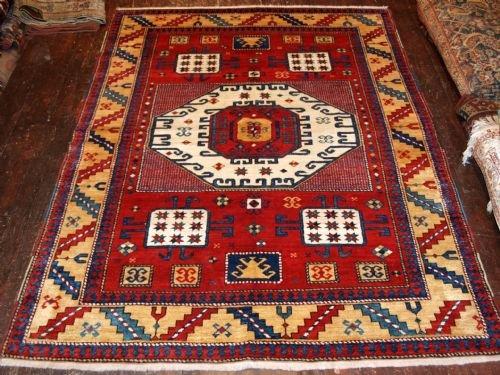 caucasian karachop kazak rug recent production 19th century copy superb wool