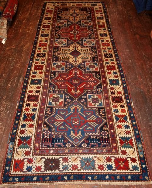 antique caucasian akstafa runner wonderful colour and condition 4th quarter 19th century