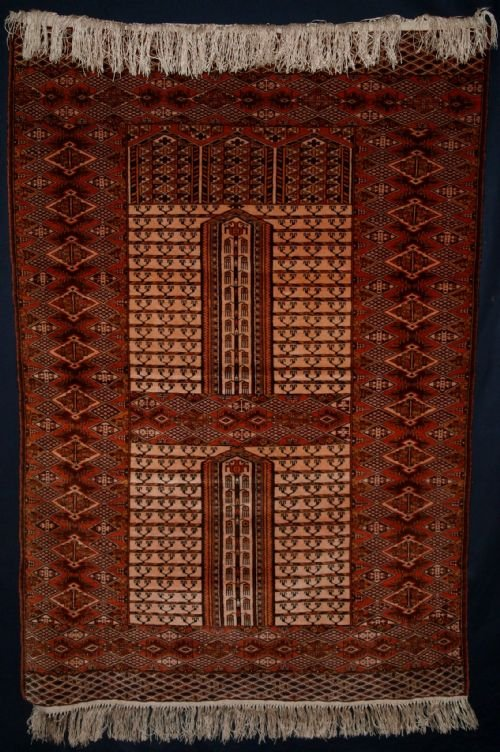 old afghan ensi purdah or hatchli rug great condition about 40 years old