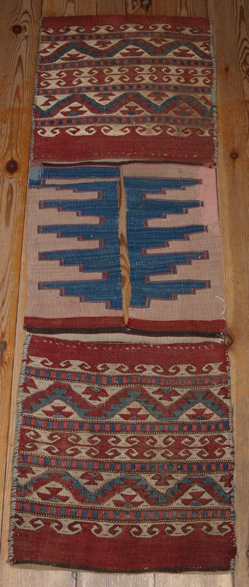 antique anatolian heybe saddle bags bergama region balikesir circa 1900