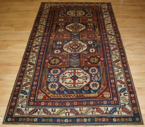 Thumbnail picture of: ANTIQUE CAUCASIAN SHIRVAN RUG WITH 'SURAHANI' GARDEN DESIGN, SUPERB COLOURS, 2ND HALF 19TH CENTURY.