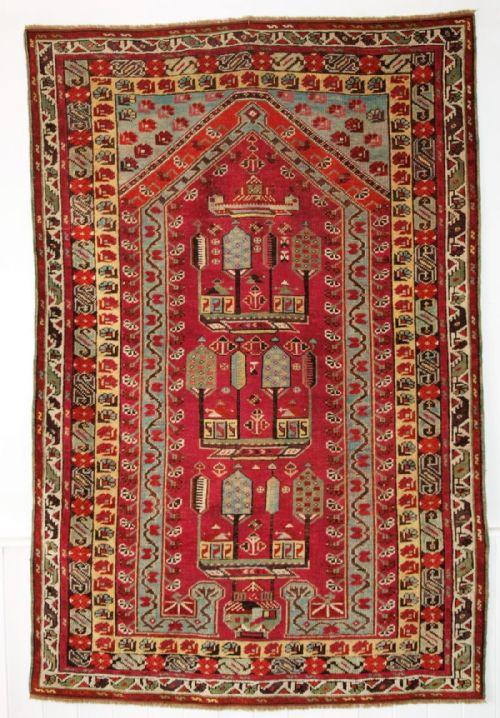 Thumbnail picture of: ANTIQUE TURKISH KIRSEHIR VILLAGE PRAYER RUG, 2ND HALF 19TH CENTURY.