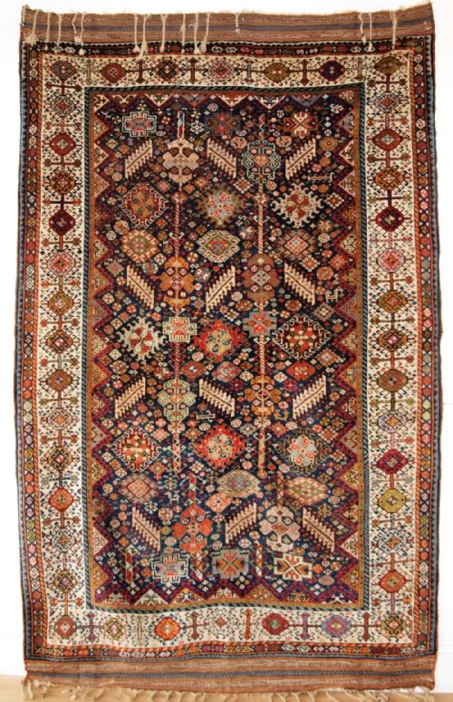 Thumbnail picture of: ANTIQUE SOUTH WEST PERSIAN SHEKARLU QASHQAI RUG, EXCELLENT DESIGN, SOFT WOOL, A SUPERB RUG. CIRCA 1880.