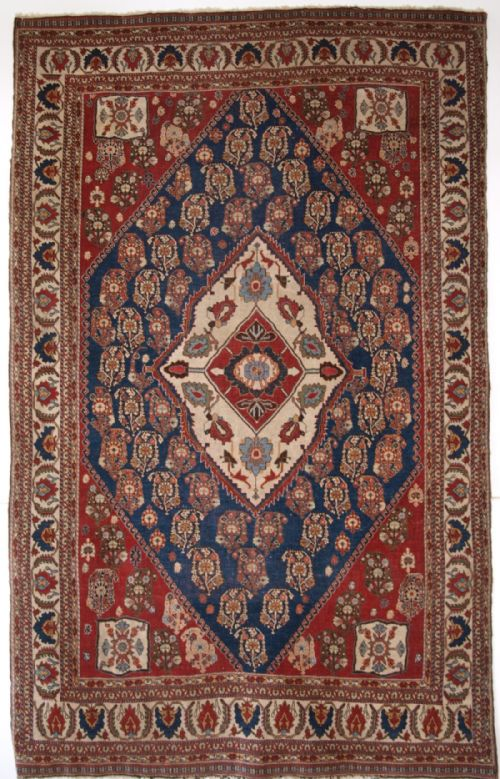 Thumbnail picture of: ANTIQUE PERSIAN TRIBAL QASHQAI KASHKULI RUG, TRIBAL WEAVING OF THE HIGHEST QUALITY, CIRCA 1880.