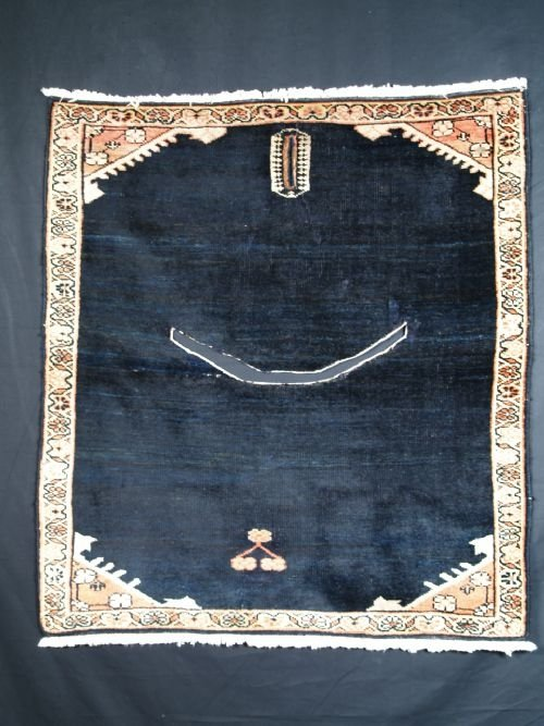antique persian feraghan saddle cover circa 1900