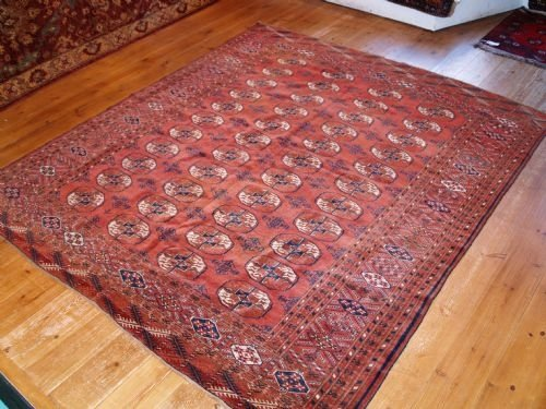 antique tekke turkmen rug very fine square size 19th century