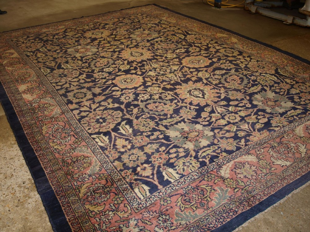 antique zeigler mahal carpet wonderful colours design large size circa 1900