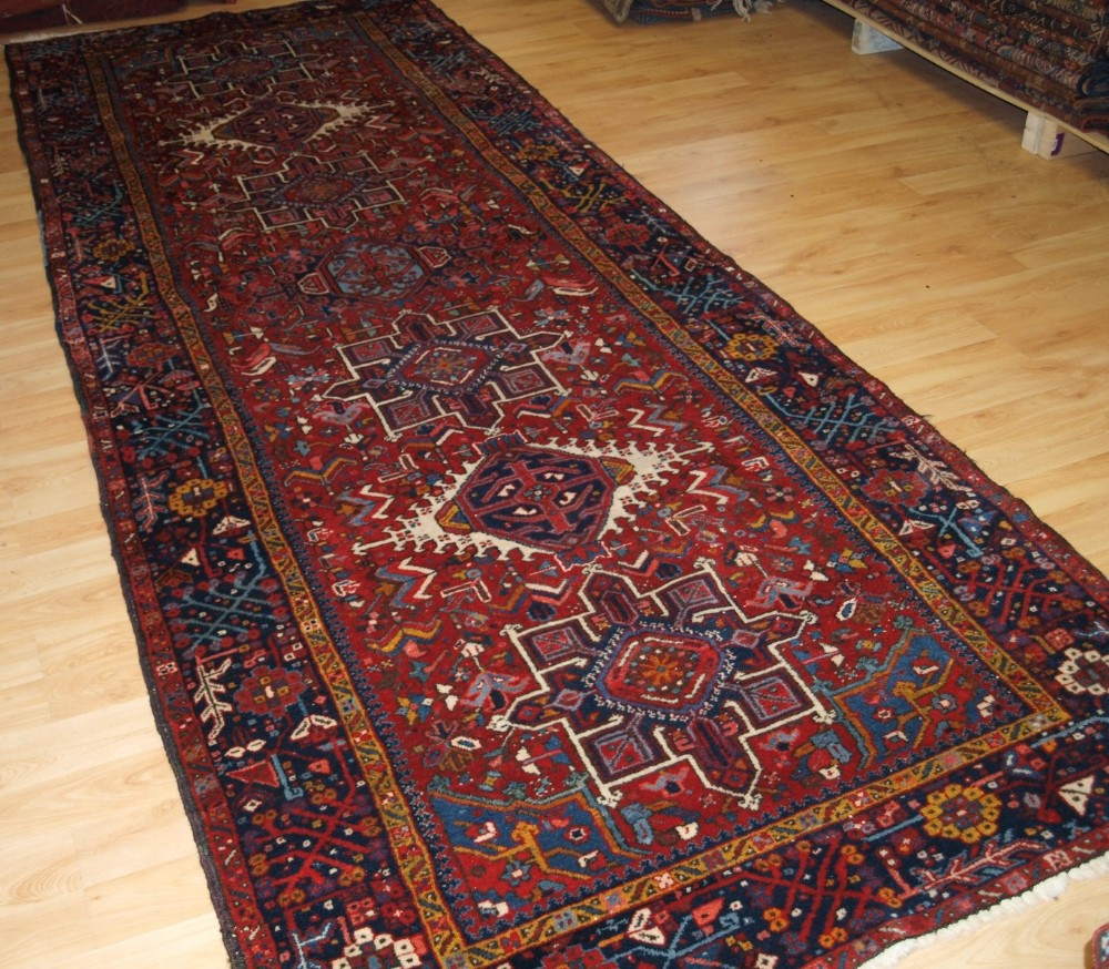old karaja runner or kelleh of traditional design very hard wearing circa 1920