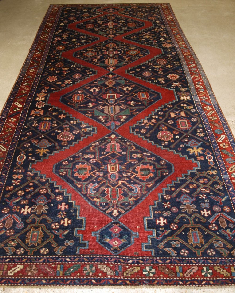 antique south caucasian karabagh kelleh large size circa 1900