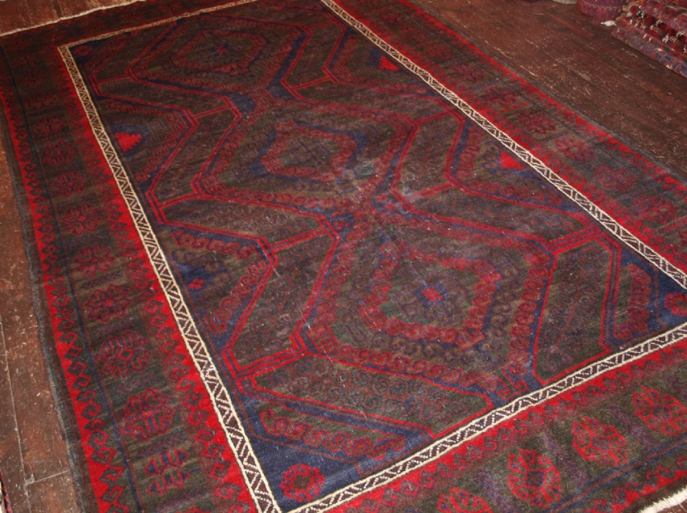 old afghan village rug traditional mushwani design about 80 years old