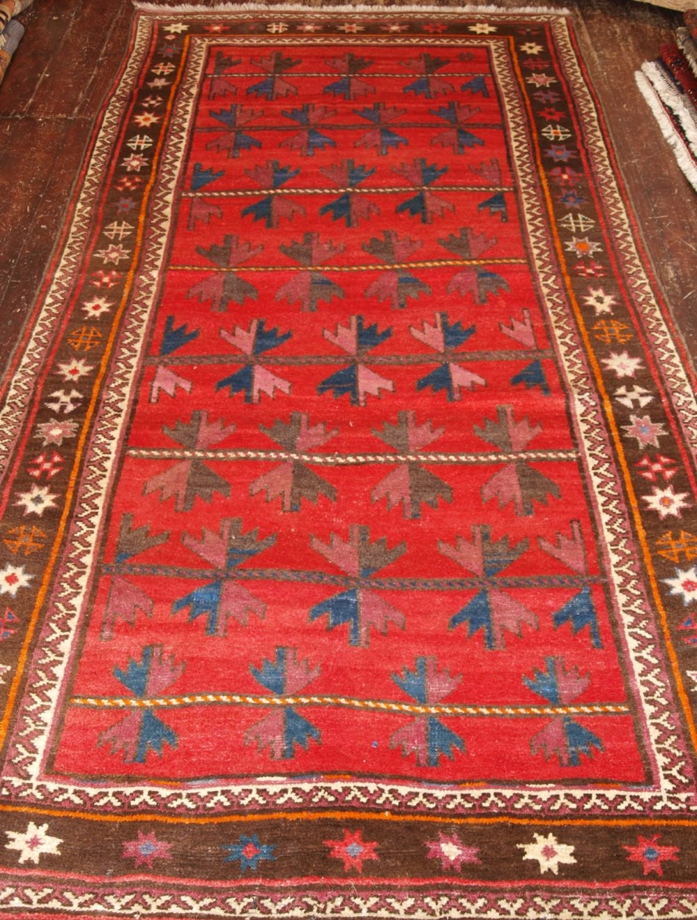 old afghan village rug unusual design great condition about 60 years old