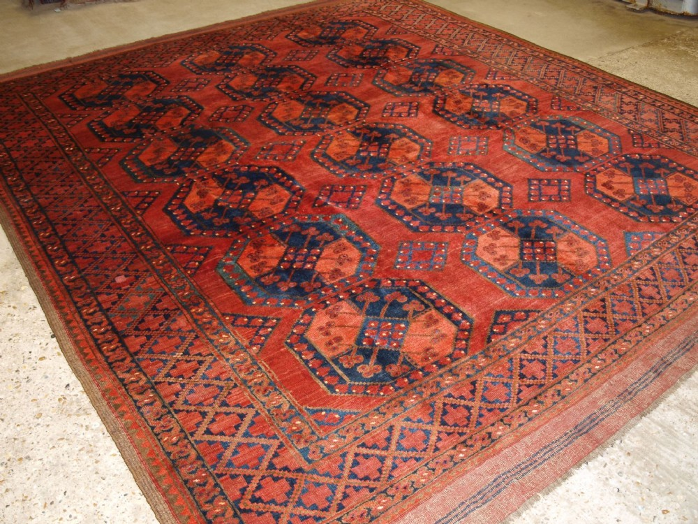 antique ersari turkmen main carpet outstanding colour condition late 19th century