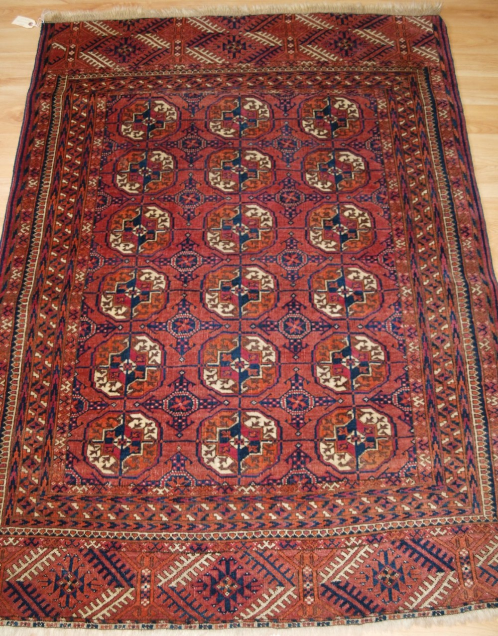 antique tekke turkmen dip khali rug soft colour small size circa 1900