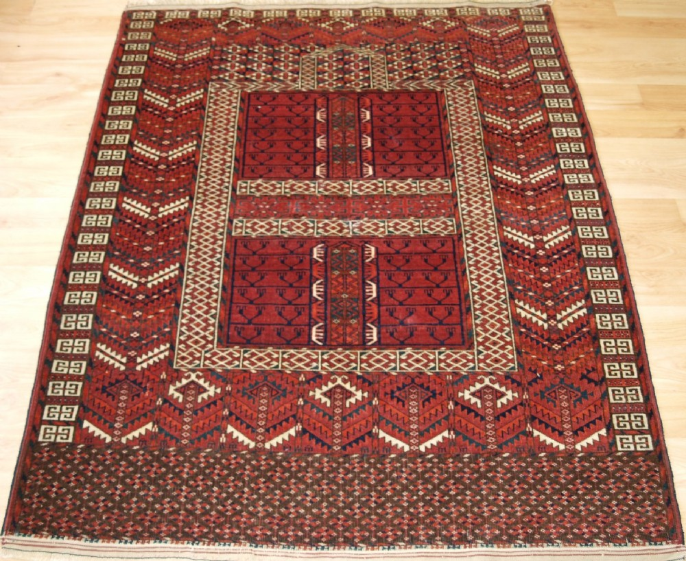 antique tekke turkmen ensi of classic design great colour circa 1900