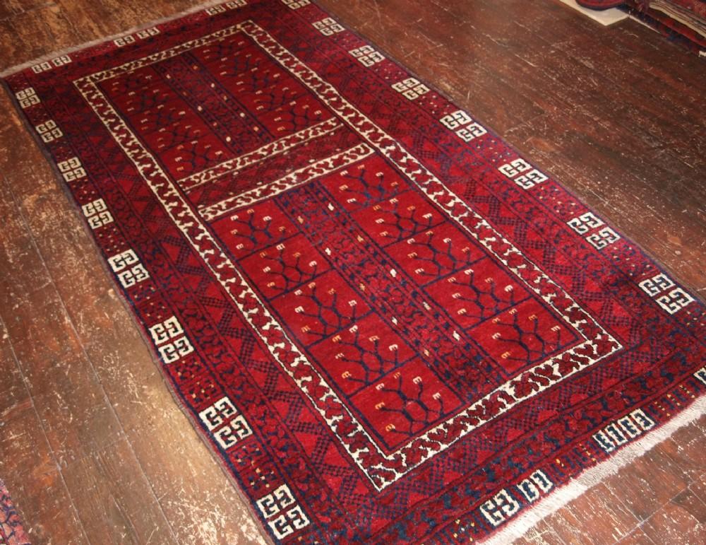 old afghan village rug of ensi design unusual size about 60 years old