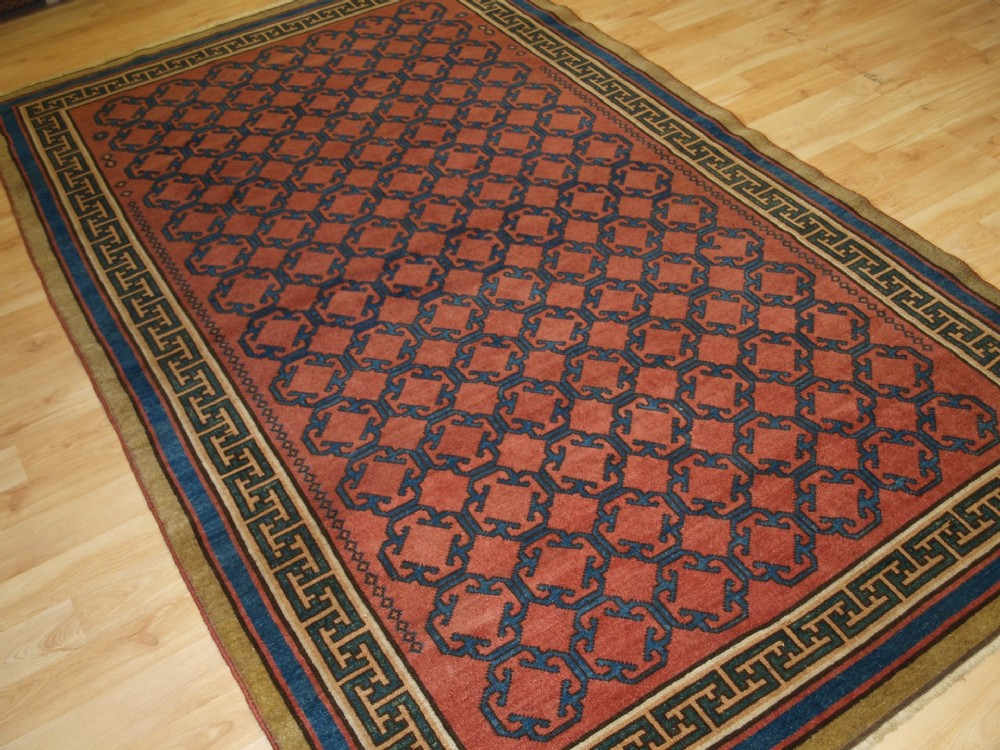 modern turkish production copy of 19th century khoton design beautiful rug