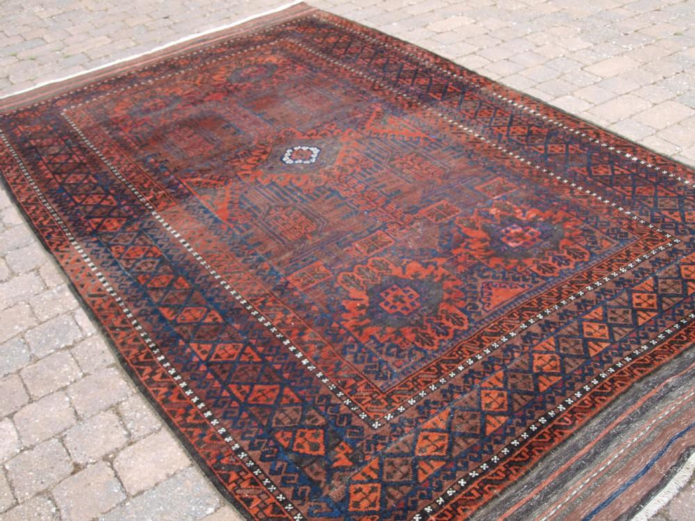 antique timuri baluch main carpet western afghanistan circa 1900