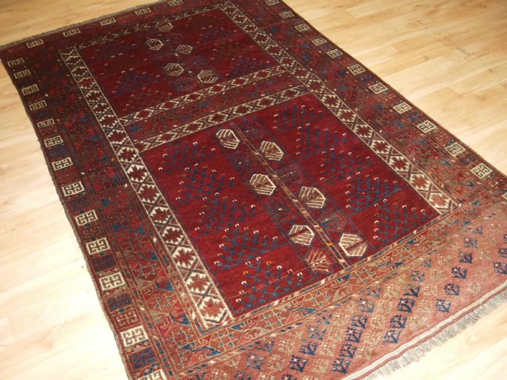 old afghan village rug ersari turkmen ensi design superb condition circa 1920