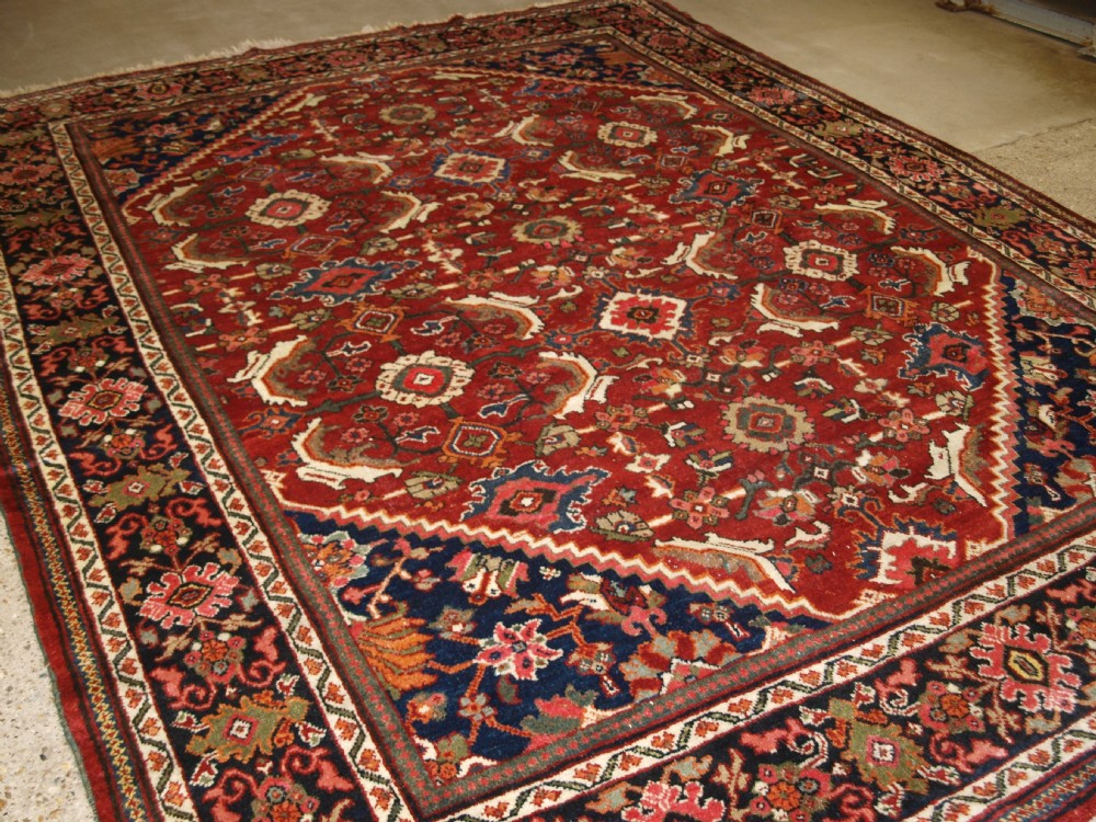 old taditional persian mahal carpet large scale all over design circa 1920