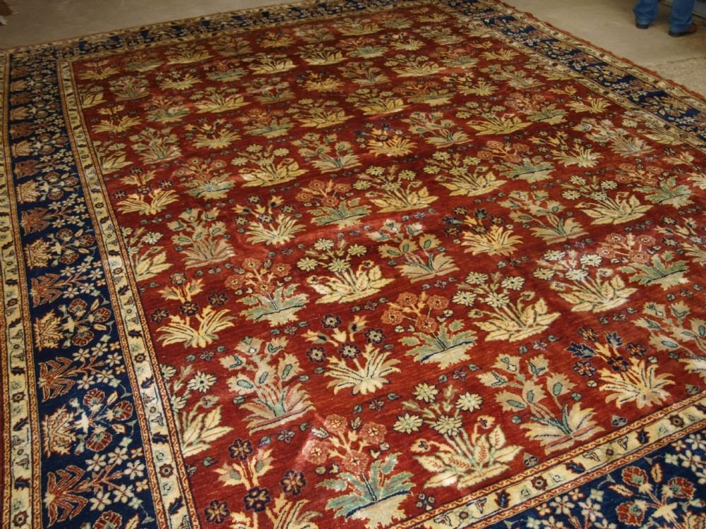 turkish hand woven carpet a recent copy of a 19th century mogul carpet about 10 years old