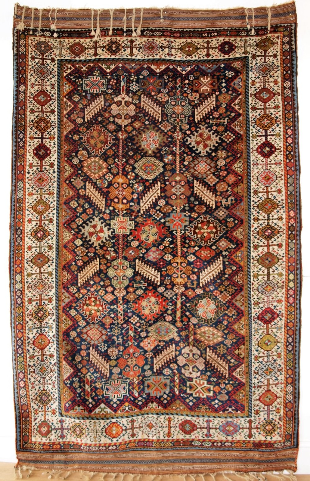 antique south west persian shekarlu qashqai rug excellent design soft wool a superb rug circa 1880