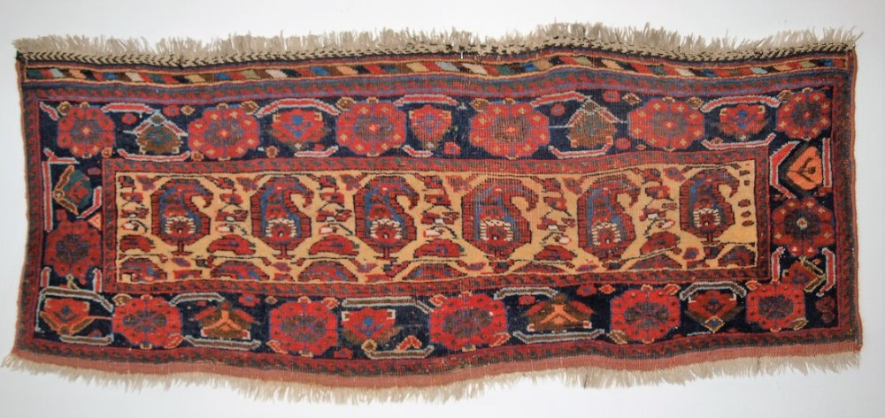 antique south west persian mafrash panel by the afshar tribe boteh design circa 1900